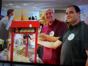 Sven Arndt beim Popkornverkauf